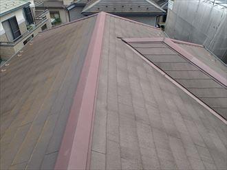 君津市 屋根の色褪せ