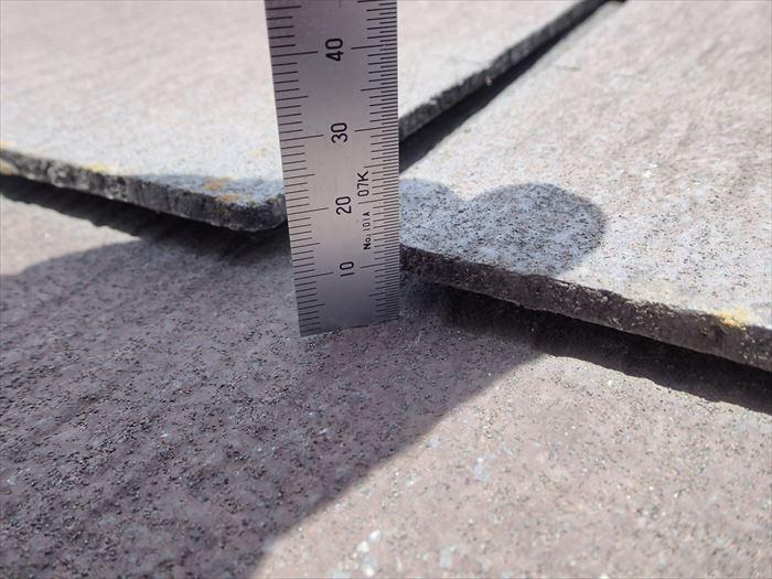 スレート屋根の浮き点検