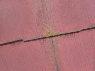 塗膜劣化したスレート