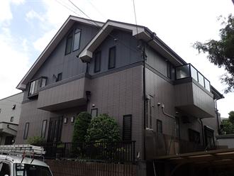 二世帯住宅の屋根点検