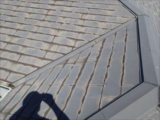 千葉市稲毛区稲毛海岸 屋根の塗膜の劣化