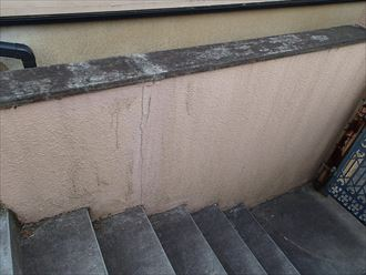 擁壁塗装前