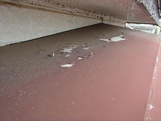 鋼板の塗膜剥がれ