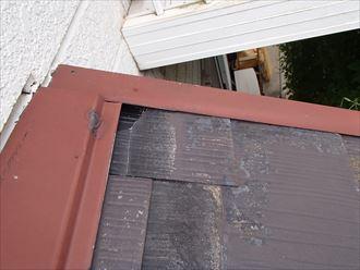 スレート屋根材の欠損