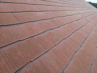 千葉市若葉区加曽利町にてコロニアル屋根の調査、色褪せはじめていますので屋根塗装を行いましょう