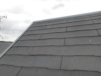 屋根塗装前の化粧スレート