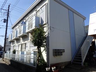 アパートの鉄骨階段塗装
