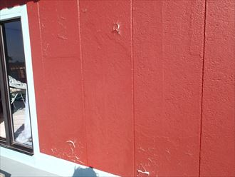 市原市潤井戸 外壁の塗料の剥がれ