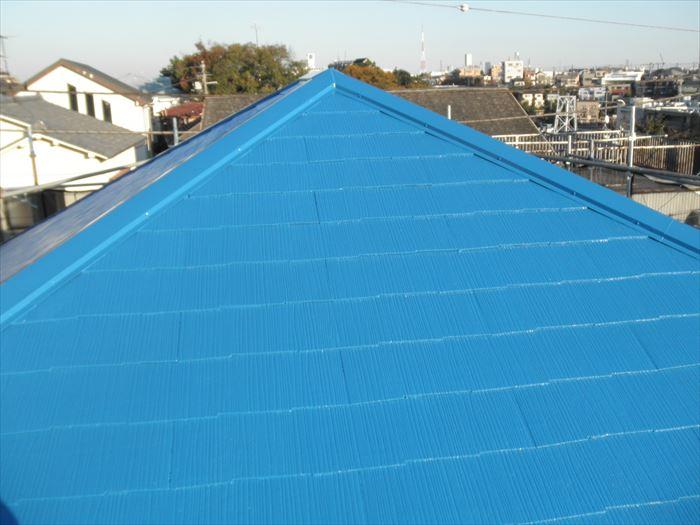 遮熱塗料で屋根塗装工事