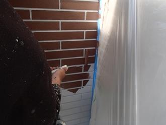 サイデイングの出っ張り部分塗装