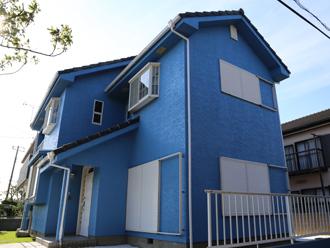 水系ファインコートシリコン(G72-50L)で外壁塗装した邸宅