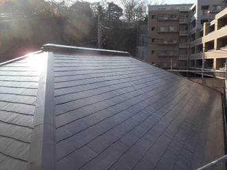 アレスクールSiで塗装したスレート屋根