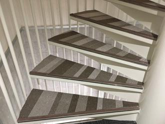 階段のカーペット張替え after