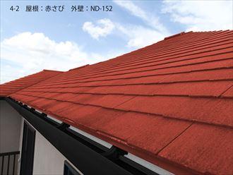 屋根:赤さび 外壁:ND-152_R