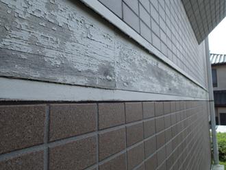 幕板の塗装が剥がれています