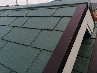 屋根とケラバ板金の塗装後