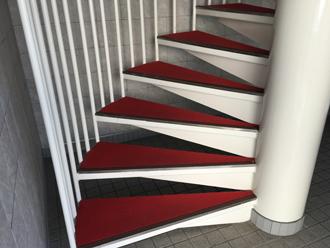 階段のカーペット張替え before