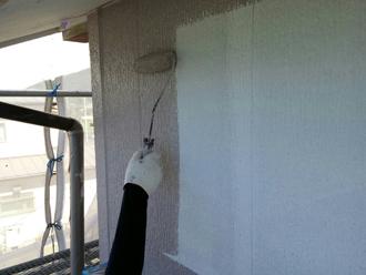 2F外壁塗装 中塗り