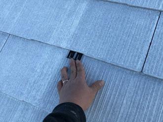 タスペーサーで屋根の隙間を確保