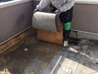 シート防水の剥がれ