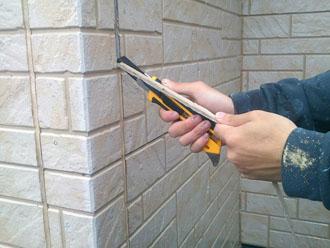 シーリング打ち替え工事 旧シーリング材の撤去