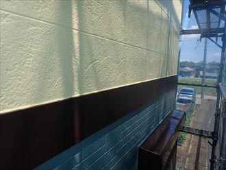 佐倉市江原で行った外壁塗装工事で日本ペイントのパーフェクトトップを使用してツートンカラーに仕上げました