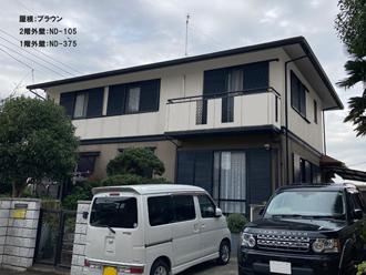 屋根;ブラウン-2階外壁:ND-105-1階外壁:ND-375