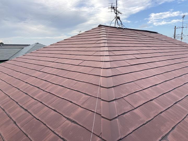 東金市田間にて化粧スレート屋根の経年劣化を調査、屋根補修と屋根塗装をご提案
