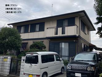屋根;ブラウン-2階外壁:ND-371-1階外壁:ND-375