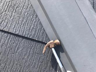 棟板金の釘浮き補修