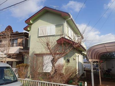 屋根塗装と破風補修工事