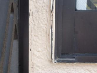 大網白里町 外壁調査 サッシ廻りの傷み