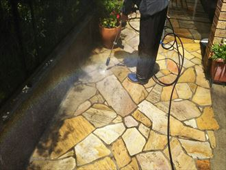 千葉市緑区 玄関ポーチ洗浄