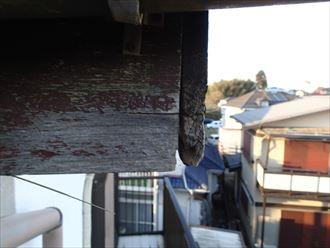 袖ケ浦市 破風板の傷み