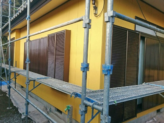 富津市 雨戸の塗装 完了