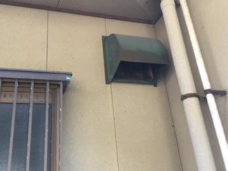 富津市 外壁塗装前点検 換気扇フード