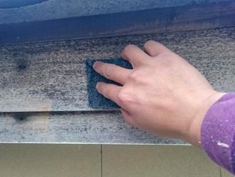 富津市 破風板の塗装 ケレン