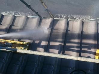 富津市 屋根の高圧洗浄