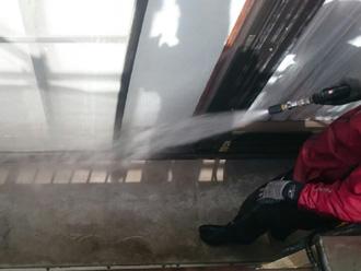 富津市 バルコニーの高圧洗浄