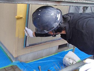 富津市 外壁塗装 中塗り