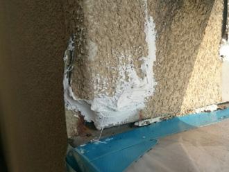 富津市 剥がれた外壁を補修