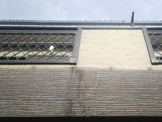 バルコニー壁面の汚れ
