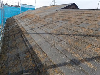 屋根塗装前の様子